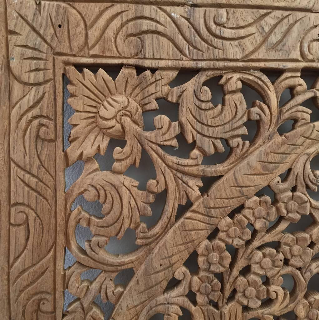 Geschnitzte Wandpanele Design LOTO Farbe: Naturteak, verschiedene Abmessungen