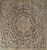 Hand carved wall panel Design LOTO white wash, different sizes available