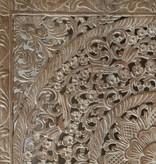Handgeschnitztes Wandpaneel Design SOLE, Farbe: Whitewash, verschiedene Abmessungen