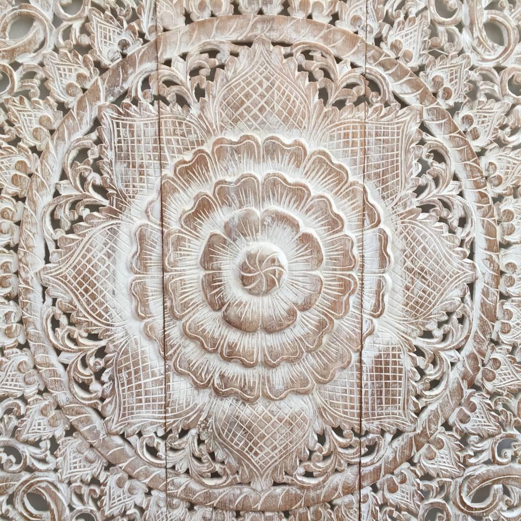 Geschnitzte Wandpanele Design LOTO Farbe: Between White, verschiedene Abmessungen