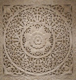Geschnitzte Wandpanele Design LOTO Farbe: antikweiss, verschiedene Abmessungen
