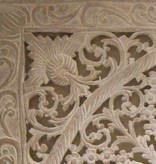 Hand carved wall panel Design LOTO antique white, several sizes