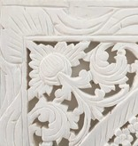 Geschnitzte Wandpanele Design LOTO Farbe: Weiss verschiedene Abmessungen