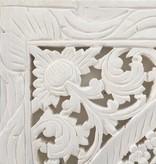 Houtsnijwerk wandpaneel Design LOTO Kleur: wit, verschillende afmetingen