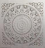 Handgeschnitztes Wandpaneel Design SOLE, Farbe: Weiss, verschiedene Abmessungen