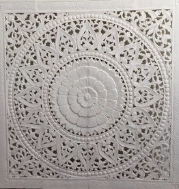 Geschnitzte Wanddekoration Design SOLE Farbe: Weiss, verschiedene Abmessungen