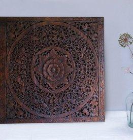 Geschnitzte Wandpanele LOTO dunkelbraun, verschiedene Abmessungen