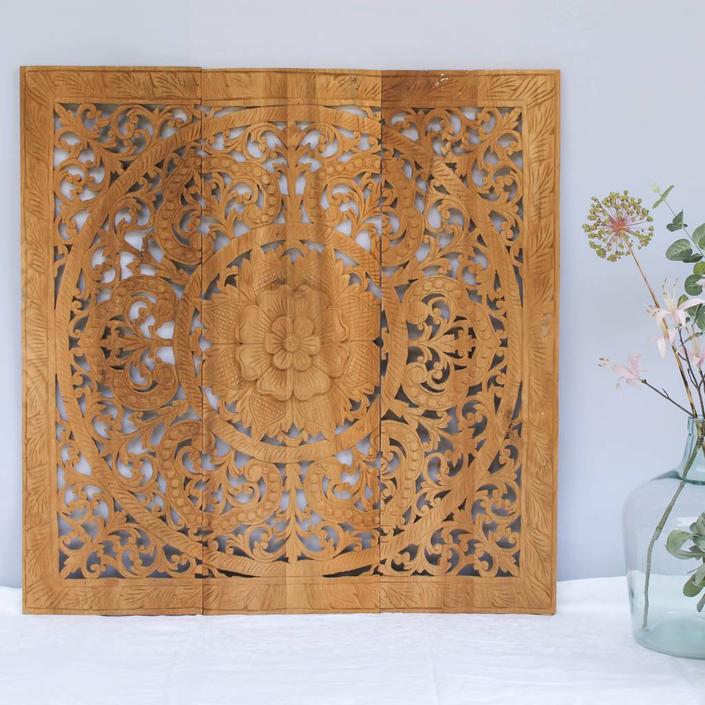 Wall panel Design ORNAMENTO, authentic wooden carving | Simply Pure ...
