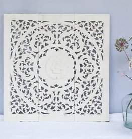 Hand carved wall panel Design ORNAMENTO, colour: white, different sizes