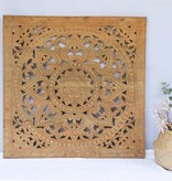 Hand carved wall panel Design SOLE naturel, several sizes