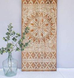 Geschnitzte Wandpaneele NEW TIMOR, langes Format ( 150x60 cm)