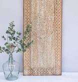 Geschnitzte Wandpaneele TIMOR, langes Format( 150x150 cm), Farbe: Natur/Weiss