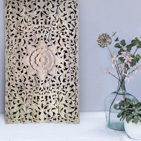 Geschnitzte Wanddekoration Design LOTO RETTANGOLO, verschiedene Abmessungen und Farben