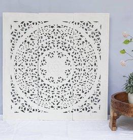 Geschnitzte Wandpanele Design LOTO Farbe: Weiss
