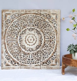 Hand carved wall panel LOTO