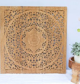 Hand carved wall panel Design LOTO natural