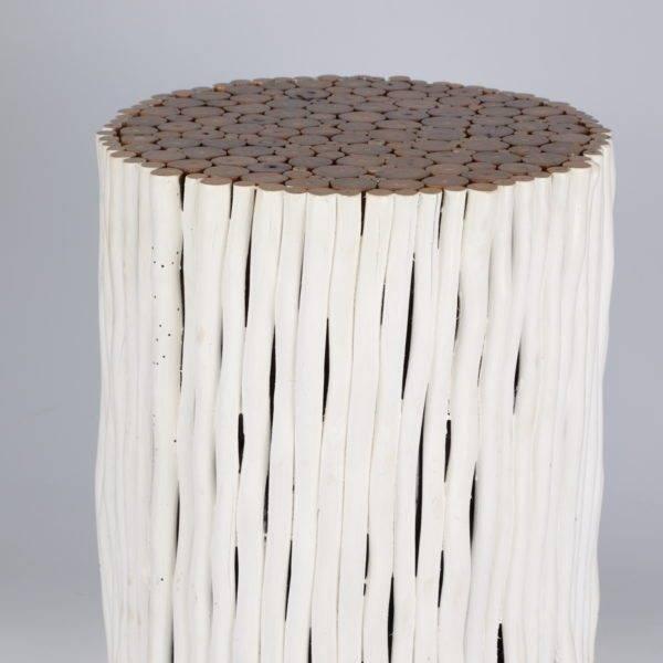 Ronde Beisetztisch aus Holz Design RAMI / Verschiedene Abmessungen moeglich