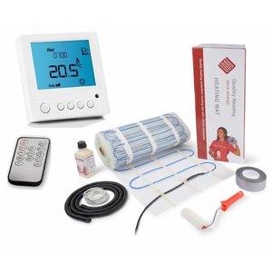 100 Watt mat set inclusief Programmeerbare Remote Control thermostaat