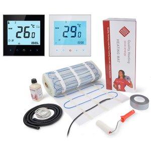 100 Watt mat set inclusief Soft Touch 7-Daags Programmeerbare thermostaat