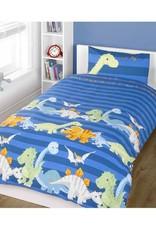 Homespace Dinosaurus Dekbedovertrek Blauw