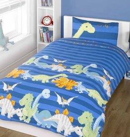 Dinosaurus Dekbedovertrek Blauw Dino04005