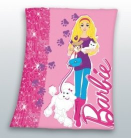 BARBIE FLEECE DEKEN 130X160 BA02003