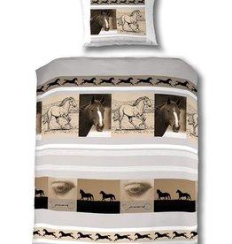 Paard Dekbedovertrek 140x200 Katoen Marengo PA16009