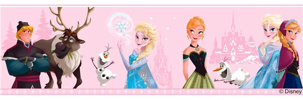 Disney Frozen Frozen Behangrand Roze 5018323061276