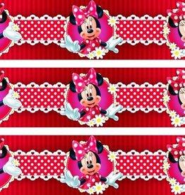 Disney Minnie Mouse Behangrand Bloem
