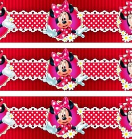 Minnie Mouse Behangrand Bloem