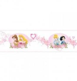 Disney Princess Princess Zelfklevend Behangrand Hartjes
