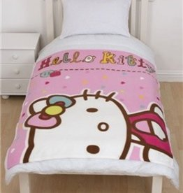 HELLO KITTY FLEECE Deken Hartjes HK08260