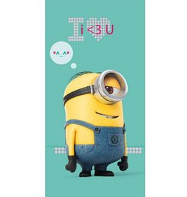 DESPICABLE ME MINION HANDDOEK ILOVEU