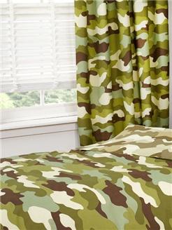 Camouflage Gordijnen - Charactersmania.nl