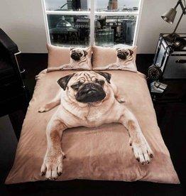 Wild@Heart Pug Hond 3D Dekbedovertrek Tweepersoon