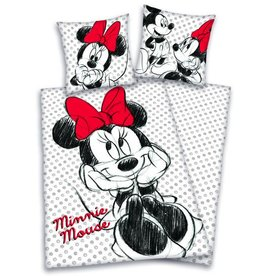 Disney Minnie Mouse Dekbedovertrek Zwart Wit