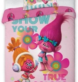 Dreamworks Trolls Dekbedovertrek Pinky