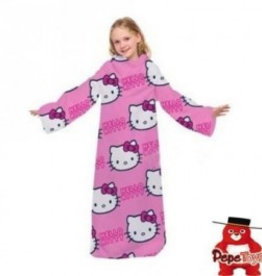 Sanrio  Hello Kitty Fleece Deken met Mouwen