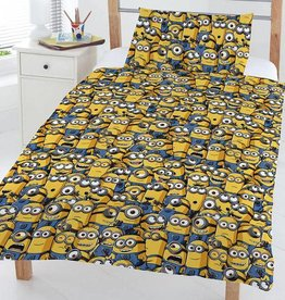 Minions Minions Junior Dekbedovertrek Geel 4 in 1