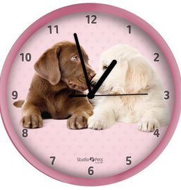 Studio Pets Labrador Pink Clock