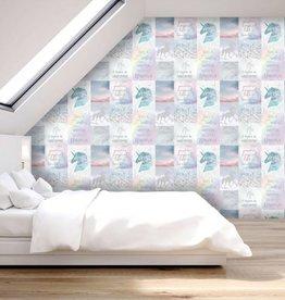 Arthouse Believe in Unicorn Glitter Behang