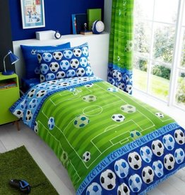 T&A Voetbal Goal Dekbedovertrek Blauw