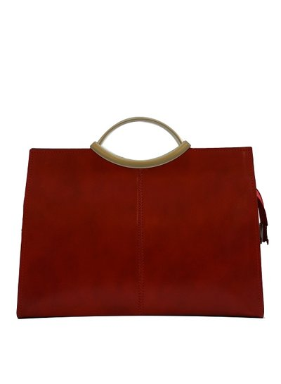 Carelli Italia Leren Handtas Latina Rood Medium