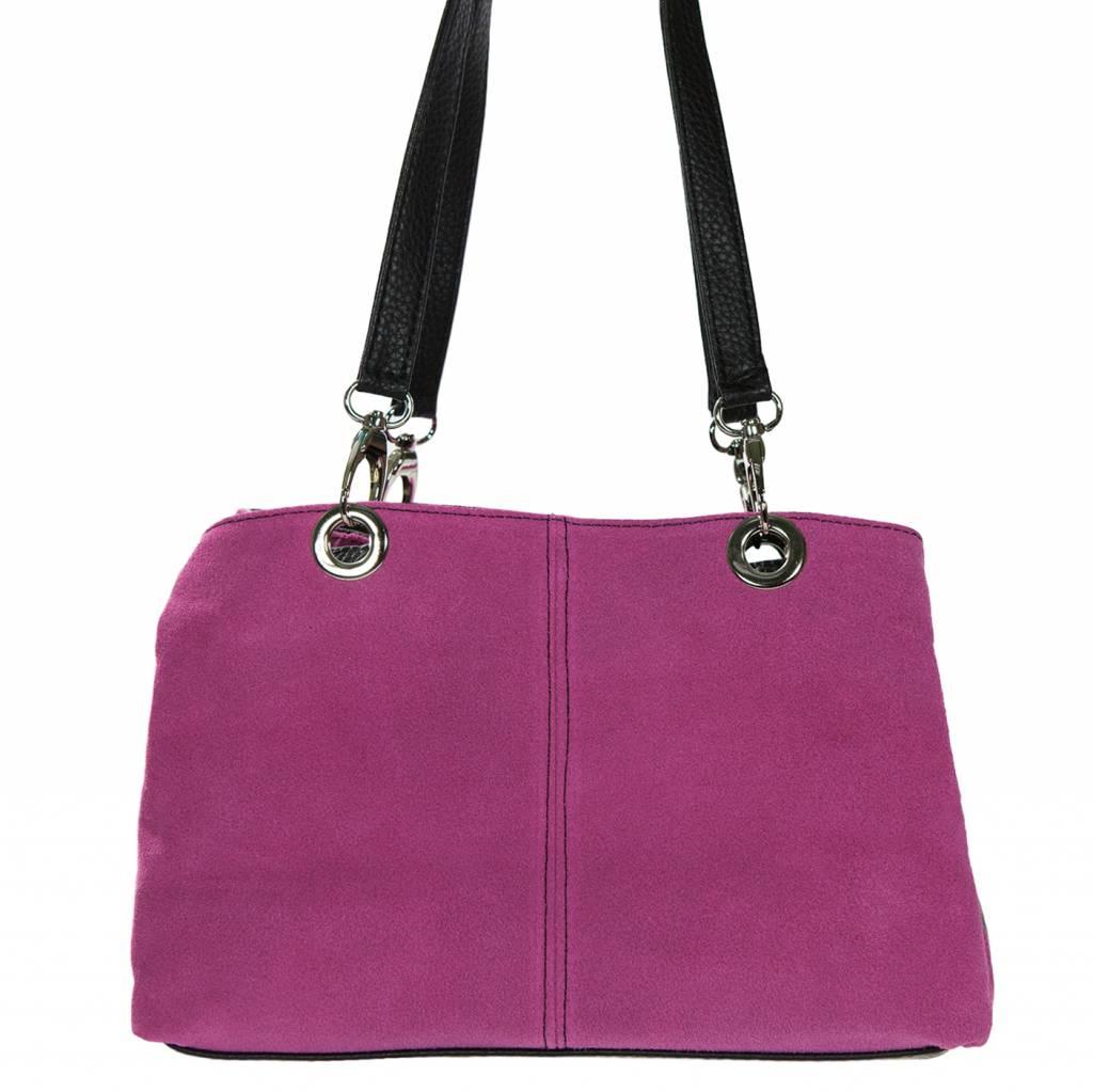 Schoudertas Uitgaan : Roze leren tas mayra in de aanbieding kopen