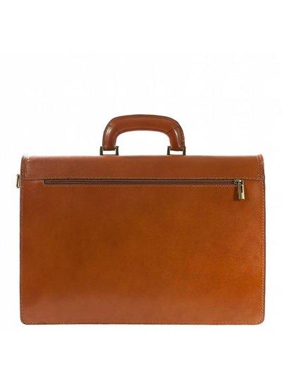 Carelli Italia Leren laptoptas Valento Oranje