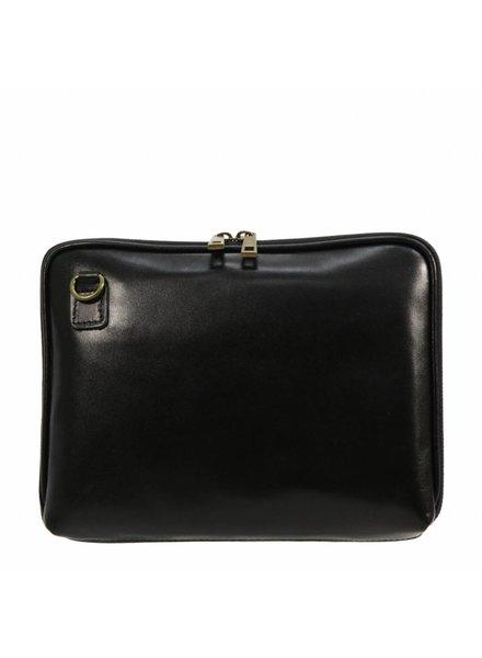 Carelli Italia Leren iPad tas Pescara Zwart