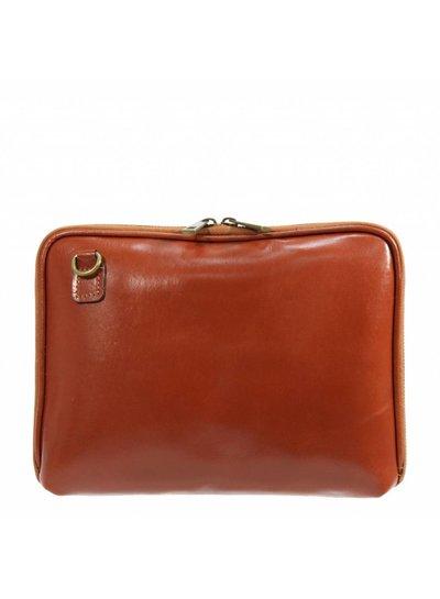 Carelli Italia Leren iPad tas Pescara Oranje