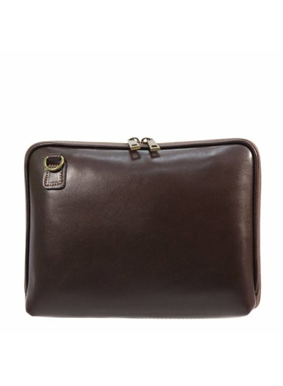 Carelli Italia Leren iPad tas Pescara Bruin