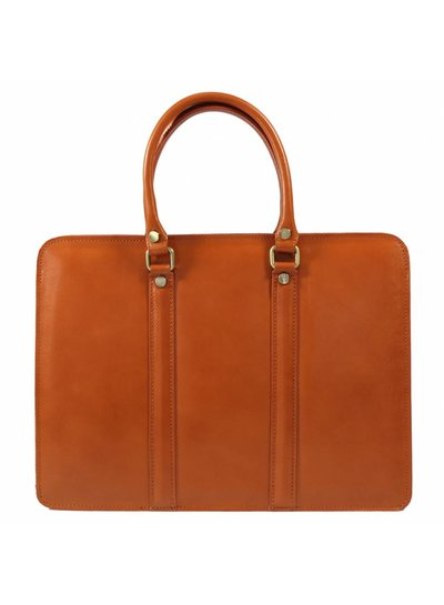 Carelli Italia Leren laptoptas Sorrento Oranje