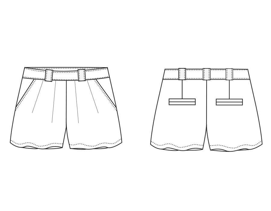 "S1007 Shorts ""Lynn"""